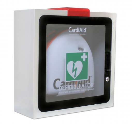 Within AED cabinet with lock CC001W