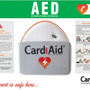 CardiAid WMB001 board for wall mounting